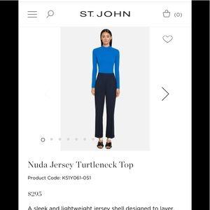 NWT St. John Brand New Prussian Blue Turtleneck!!